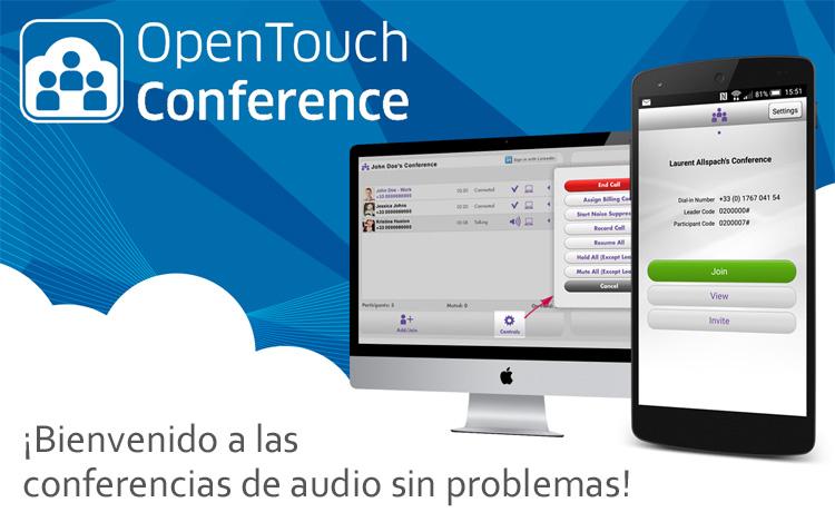 OpenTouch Conference, bienvenido a las conferencias de audio sin problemas